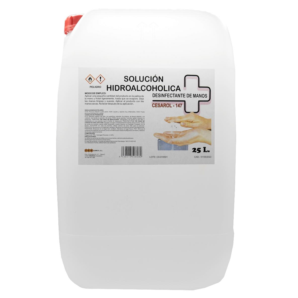 Desinfectante Solución Hidroalcoholica Cesarol-147 25L