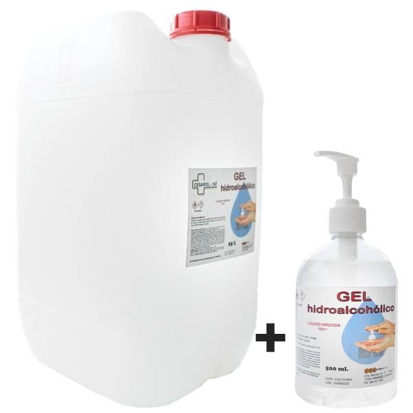 Gel Hidroalcoholico 25L + 500ml