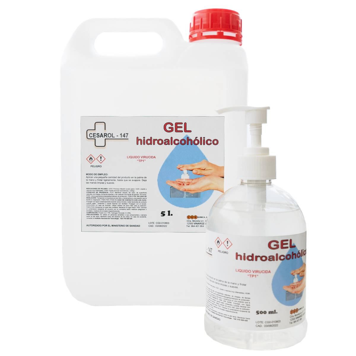 gel hidroalcoholico 5L + 500ml